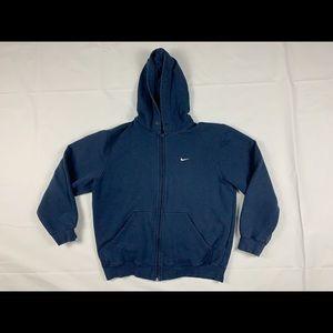 Vintage nike zip up hoodie navy blue